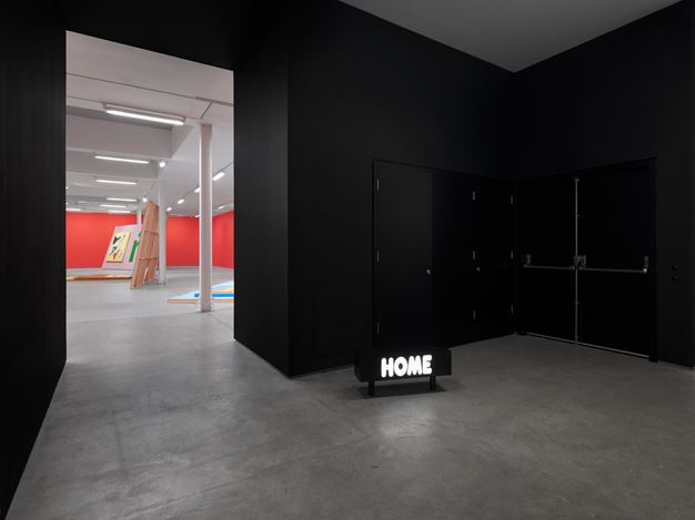 Exhibition view: Alex Da Corte,Helter Shelter or: The Red Show! or ..., Sadie Coles HQ, London (31 October 2020–10 February 2021). © Alex Da Corte. Courtesy Sadie Coles HQ, London. Photo: Eva Herzog.
