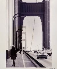 Roberta Contemplating Suicide on the Golden Gate Bridge by Lynn Hershman Leeson contemporary artwork photography