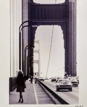 Roberta Contemplating Suicide on the Golden Gate Bridge by Lynn Hershman Leeson contemporary artwork