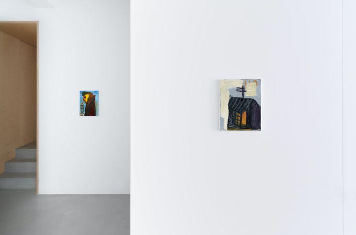 Exhibition view: Walter Swennen, Parti chercher du white spirit,Xavier Hufkens,44rue Van Eyck, Van Eyckstraat (27 January–27 February 2021). Courtesy Xavier Hufkens, Brussels.