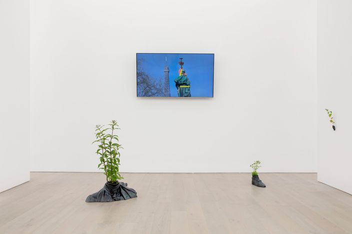 Exhibition view: Iván Argote, A Place For Us, Perrotin, New York (17 June–13 August 2021).Courtesy the artistand Perrotin.Photo: Guillaume Ziccarelli.