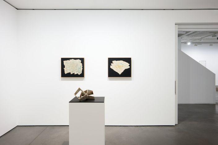 Exhibition view: Gerhard Marx,Spatial Imaginaries, Propositional Cartographies, Goodman Gallery, London (25 June–31 July 2021). Courtesy Goodman Gallery.