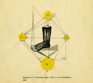 Diagram for standing bare feet in the sun by Shreyas Karle contemporary artwork