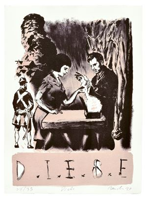 Diebe by Neo Rauch contemporary artwork
