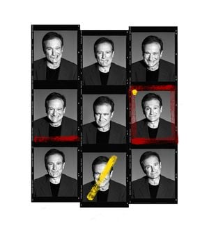 Robin Williams Contact Sheet by Andy Gotts contemporary artwork photography, print