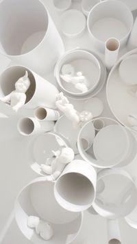 Devil or Angel (魔鬼与天使) by Danful Yang contemporary artwork ceramics