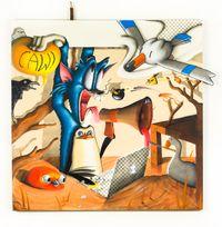 THE STYMPHALIAN BIRDS by Sebastian Chaumeton contemporary artwork painting