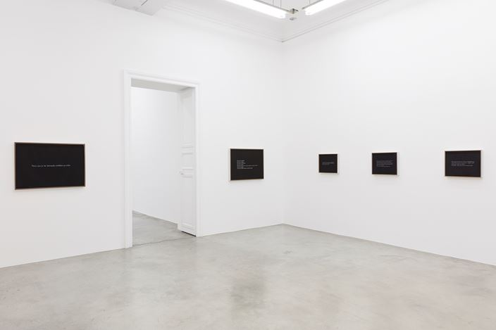 Exhibition view: Sophie Calle, 'Parce que', Perrotin, Paris (13 October–22 December 2018). Courtesy the artist and Perrotin.