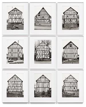 Fachwerkhaeuser - Giebelseite by Bernd & Hilla Becher contemporary artwork