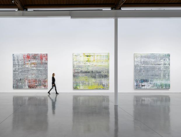 Exhibition view: Gerhard Richter,CagePaintings, Gagosian, Beverly Hills (3 December 2020–3 April 2021). ©Gerhard Richter. Courtesy Gagosian.Photo: Jeff McLane.