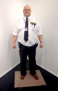 Big Man Security Guard by Marc Sijan contemporary artwork sculpture