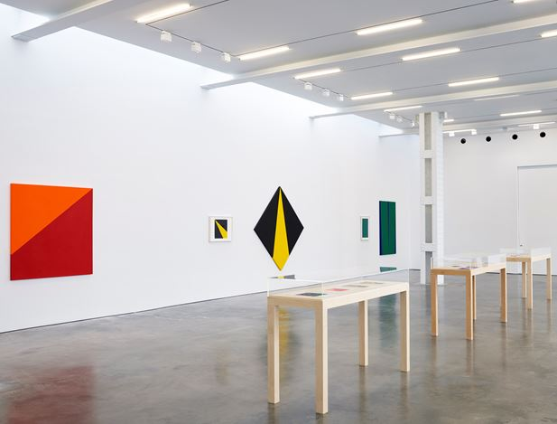 Exhibition view: Carmen Herrera, Painting in Process, Lisson Gallery, West 24th Street, New York (10 September–17 October 2020). © Carmen Herrera. Courtesy Lisson Gallery.