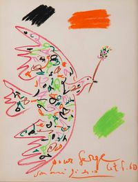 Colombe by Pablo Picasso contemporary artwork works on paper, drawing