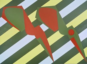 Scissors in Spring - A Pair or Two Halfs by Mao Xuhui contemporary artwork