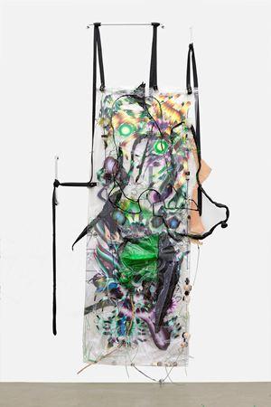 Swarm living is for Bodybag ONION BRAID by KAYA (Kerstin Brätsch & Debo Eilers) contemporary artwork painting, works on paper, sculpture