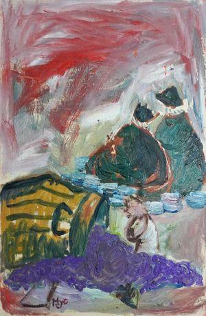 Manilascape 3 by Manuel Ocampo contemporary artwork
