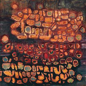 Komposisi Bentuk (Composition of Forms) by Fadjar Sidik contemporary artwork