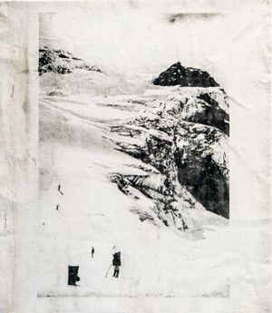 Bossons glacier by Douglas Mandry contemporary artwork