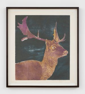 The Fallow Deer by Mamma Andersson contemporary artwork print