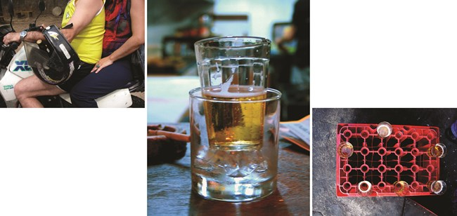 """Beer / from the series """"Niches of Gambiarras"""" by Cao Guimarães contemporary artwork"""