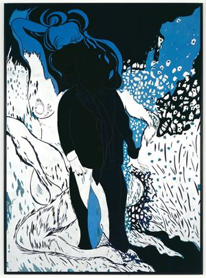 Saint Lucian Blue Two by Chris Ofili contemporary artwork