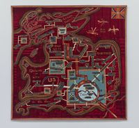 Red Carpet by Grayson Perry contemporary artwork textile