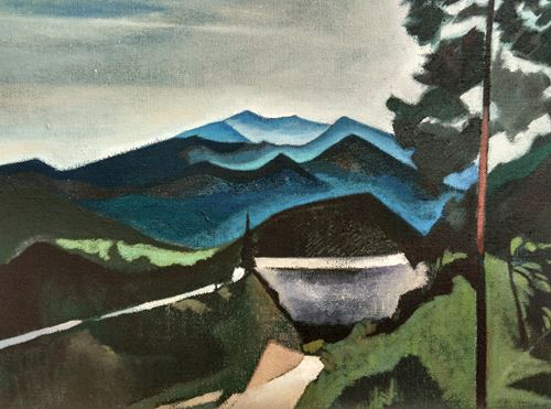 Reservoir Scenery by Xiao Jiang contemporary artwork