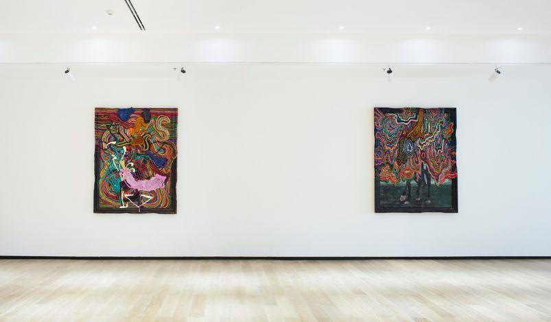 Exhibition view: Jigger Cruz, Paradigmal Traps,Tang Contemporary Art, Bangkok (1–25 July 2021).Courtesy Tang Contemporary Art.