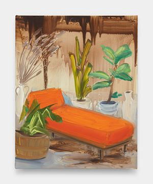 Orange Chaise #2 by Tala Madani contemporary artwork