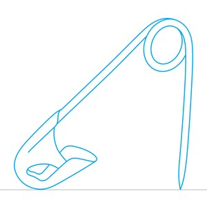 Safety Pin (blue) by Michael Craig-Martin contemporary artwork