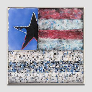 Untitled (Flag) by Vaughn Spann contemporary artwork