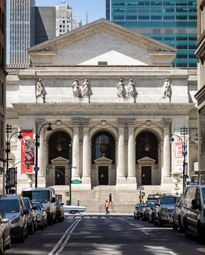 New York Public Library, Fifth Avenue, NYC, 13 May 2020 by Sean Hemmerle contemporary artwork
