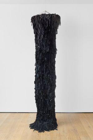 The Black Spiral [Biała spirala] by Barbara LEVITTOUX-ŚWIDERSKA contemporary artwork