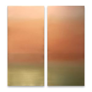 Yellow Gold Diptych 7.19.4.4.1 by Miya Ando contemporary artwork