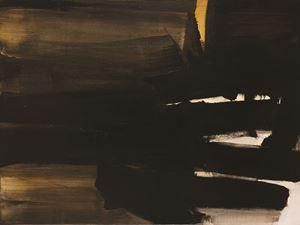 Peinture 97 x 130 cm, 16 novembre 1963 by Pierre Soulages contemporary artwork
