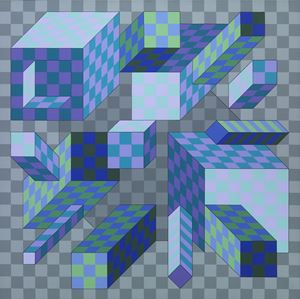 Palota-inf by Victor Vasarely contemporary artwork