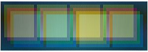 Color aditivo yuruani by Carlos Cruz-Diez contemporary artwork