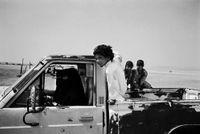 Bedouin women driving a car in the Empty Quarter, Sharoura, Saudi Arabia by Samer Mohdad contemporary artwork photography