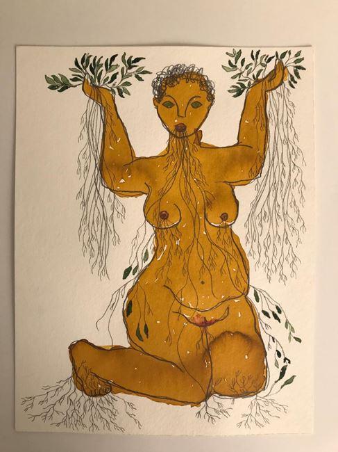 Untitled, senhora das plantas series by Rosana Paulino contemporary artwork