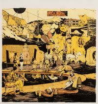 Scenery in Yellow #5 by William Buchina contemporary artwork painting, works on paper, drawing