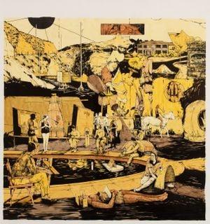 Scenery in Yellow #5 by William Buchina contemporary artwork