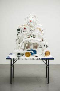 White Discharge (Built-up Objects #36) by Teppei Kaneuji contemporary artwork mixed media