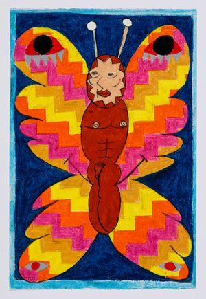 Untitled (moth) #25 by Brendan Huntley contemporary artwork