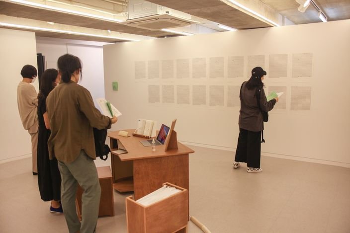 Exhibition view:Hyejin Jo, Look, Shape, Place. 꼴, 모양, 자리., Space Willing N Dealing, Seoul (24 June–14 July 2021). Courtesy Space Willing and Dealing.