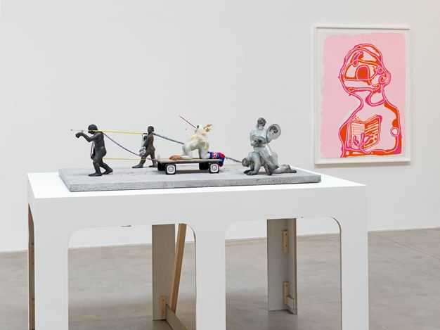 Exhibition view: Nicole Eisenman, Where I Was, It Shall Be, Hauser & Wirth, Somerset (3 October 2020–10 January 2021). © Nicole Eisenman. Courtesy the artist and Hauser & Wirth. Photo: Ken Adlard.