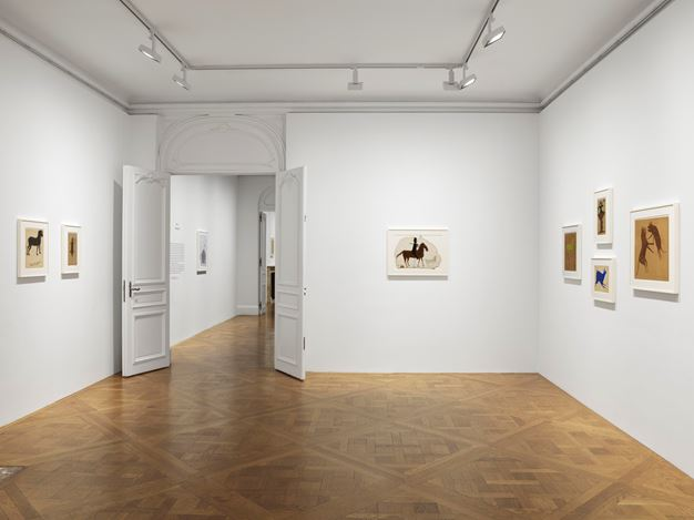 Exhibition view: Bill Traylor, David Zwirner, 69th Street, New York (29 October 2019–8 February 2020). Courtesy David Zwirner.