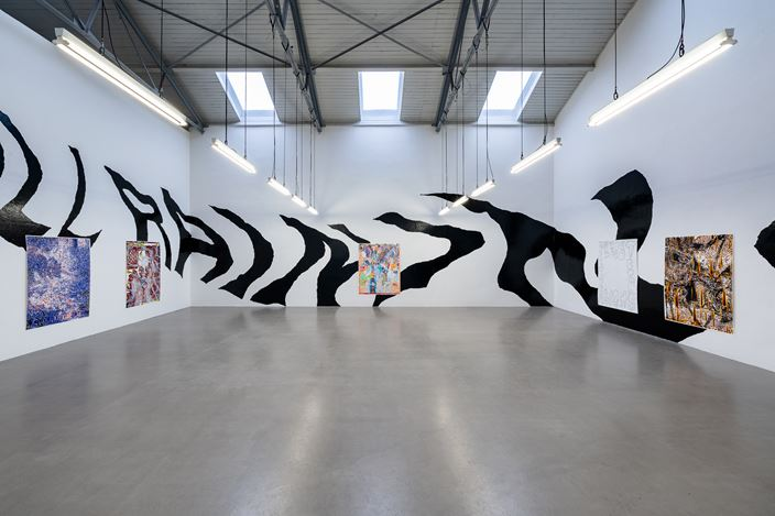 Exhibition view:Martin Gross,Inside a Screensaver, Galerie EIGEN + ART, Leipzig (27 February–3 April 2021). Courtesy Galerie EIGEN + ART Leipzig. Photo: dotgain.info.