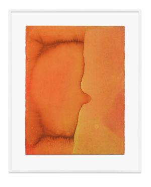 Untitled (Pale orange) by Jason Martin contemporary artwork