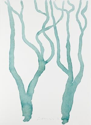 Untitled (Tree Study 3) by William Turnbull contemporary artwork