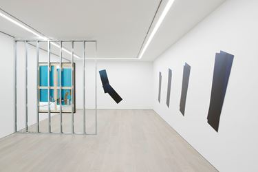 Exhibition view: Artie Vierkant, Rooms Greet People By Name, Perrotin, New York (3 March–8 April 2018). Courtesy Perrotin. Photo: Guillaume Ziccarelli.
